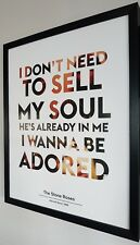 More details for ian brown-the stone roses framed limited edition print-i wanna be adored