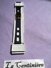 Ancien Vintage Bracelet Pour Montre Noir  Cobra 16mm
