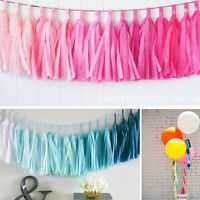 DIY Tissue Tassel Garland Paper Banner Party Wedding Supplies Bunting Decoration