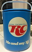"""Vintage 70's RC Cola """"Me and My RC"""" multi-gal Cooler - NEW! (Royal Crown Soda)"""