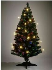 5ft Fibre Optic Christmas Tree with LED Candles