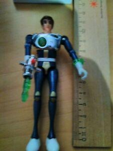 Captain Future Gelenk- Figur von Popy (c) 1980 Hongkong mit Laser-Pistole
