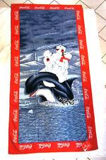 Coca-Cola - DRAP DE BAIN OU PLAGE 1997 NEUF OURS ET ORQUE 75 cm x 150 cm