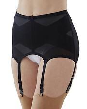 Cortland Foundations 6 Strap Black Garter Belt Shaper Girdle Size 34/2XL