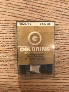 NOS VINTAGE GOLDRING D.540 SR DIAMOND STYLUS NEEDLE FOR HITACHI DS ST 101 STEREO