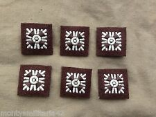 Excellent WW2 British Army Officers Khaki Brown Battledress Rank Pips x 6
