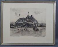 Walter Romberg (1898 - 1973) - Bauernhütten im Osten 1 - handsignierte Radierung