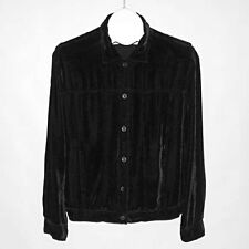 J. JILL Black Velvet Washable Jacket S