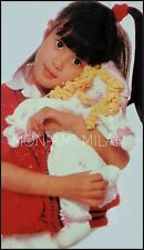 Knitting Pattern Copy KNITTED RAG DOLL & CLOTHES OUTFIT TOP TROUSERS HAT BOOTEES
