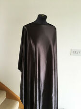 Metallic GunmetalGrey Heavy Drape Stretch Satin Jersey Dressmaking Fabric