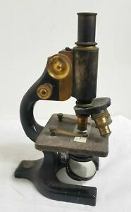 Antique Vintage Spencer Buffalo Microscope Box Bausch Lens BristoL Japan