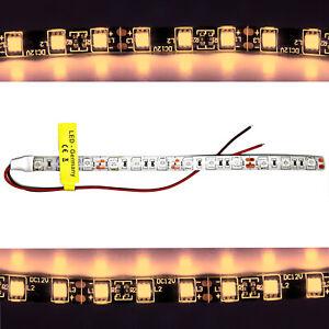 LED Strip Stripes 12V Warm White 3200K 10cm 1m 5m White Cable Lighting 9,99 €/ M