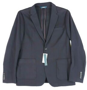 Perry Ellis Blazer Blue Purple Mens XL Striped Stretch Slim Unlined Knit Jacket