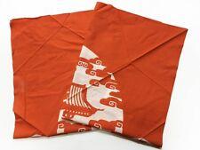 Vintage Japanese Cotton Furoshiki Temple Gate Tie-Dye Design JanXG
