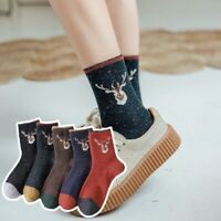 Winter Thick Wool Women Socks College Style Girls Harajuku Vintage  Streetwear