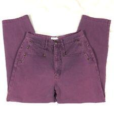 Sz 28/29 Vintage 90s High Waist Mom Jeans Purple Tapered Leg Christopher & Banks