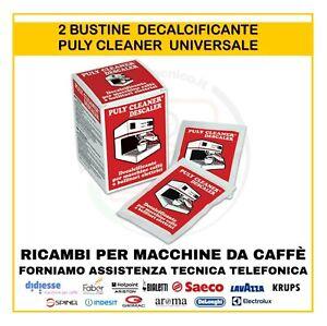 2 Anticalcare Decalcificante DISINCROSTANTE UNIVERSALE per macchine da caffè