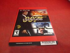 007 Legends Playstation 3 PS3 Blockbuster Store Promo Display Card ONLY