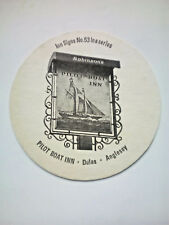 Vintage ROBINSONS - INN SIGNS - PILOT BOAT INN  - Cat No'111 Beermat / Coaster