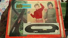 VTG AUTORENNBAHN PLASTICART F1 WARTBURG SLOT CAR SET CART RACING GAME 70's DDR