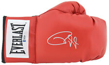 Roy Jones Jr. Signed Red Everlast Boxing Glove w/ Silver Signature BAS Witnessed