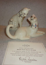 Lenox Made for Each Other Set of 2 Jeweled Cats New