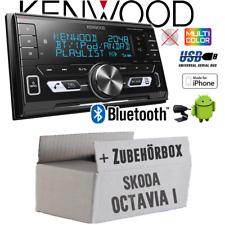 Kenwood Autoradio für Skoda Octavia 1 1U 2DIN/Bluetooth/USB/VarioColor Einbauset