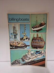 Vintage DENMARK BILLING MODEL BOATS CATALOGUE SHIPS (C6)