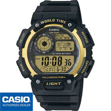 CASIO AE-1400WH-9AVEF*AE-1400WH-9AV*ORIGINAL*ENVIO CERTIFICADO*WORLD TIME*DORADO