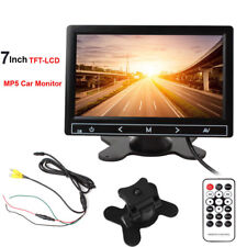 """7"""" TFT LCD Car Rear View Backup Mirror Monitor Touch Button Screen MP5/DVD/TV"""