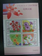 Macau 1991 Flowers Stamp Sheet S/S MNH