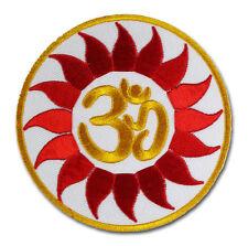 OM AUM Sonnenrad Symbole Goa Psy Flower Power Patch Aufnäher Aufbügler Sticker