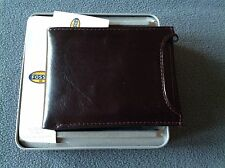 NEW FOSSIL Men's TRUMAN Sliding 2-IN-1 Leather Wallet ~ Cordovan