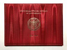 2019 Folder Vatican Vaticano 90° Patti Lateranensi Francobollo Stoffa LE 20.000