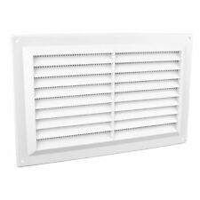 WHITE LOUVRE AIR VENT Plastic Ventilation Duct With Insect Screen 4695D