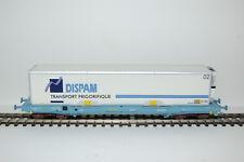 Wagon KC Gris Bleu Caisse Mobile Frigo DISPAM SNCF LS MODELS - LSM 30309 - 1/87
