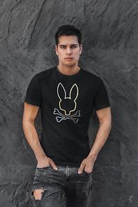 PSYCHO BUNNY Sheffield Logo T Shirt Black