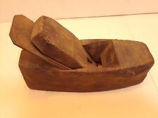 "Antique Wooden, 8"" long wood plane. Steel Blade, Hand Made Planer"