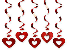 Girlanden Spiralen mit Herzen Girlande Herzgirlande Valentinstag Hochzeit