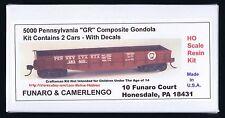 "LMH Funaro F&C 5000  PENNSYLVANIA 1902-50's PRR ""GR"" Composite Gondola 2-CAR KIT"