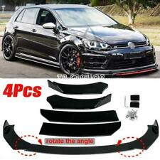 For VW Golf MK7 MK7.5 MK6 GTI GTD R 4Pcs Carbon Fiber Look Front Bumper Lip Kit