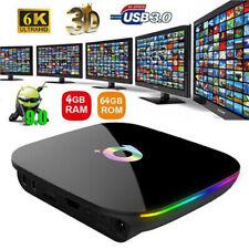 Q Plus 4K TV BOX Android 9.0 4GB/64GB Quad Core USB3.0 4K WiFi Media Player U6T1