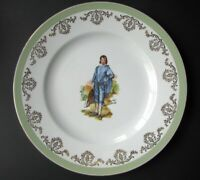 "Wood and Sons Blue Boy Plate English Ironstone 10 1/2"" Serving Plate"