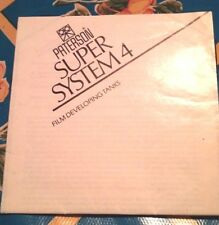 Paterson Super System 4 Tank Instruction Manual - English French German Spanish