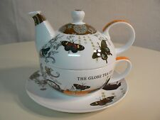 PPD Tea for One TEA GARDEN with Decorative Hat Box Matching Design BONE CHINA