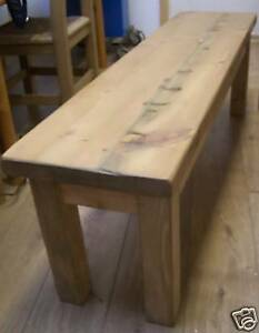 5FT OLD RUSTIC RECLAIMED PINE BENCH TO FIT UNDER TABLE MADE ANY SIZE