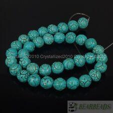 """Azul howlite turquesa, piedras preciosas Tallado redonda suelta espaciador perlas 10 mm 12 mm de 16 """""""