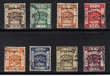 Palästina 1920 Dezember Zweiten Jerusalem Ovpt Komplettes Sg 30-37 Gestempelt