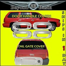 98-03 Durango 4 Door Chrome Handle Covers 1 Keyhole + Tail Gate Cover Overlays