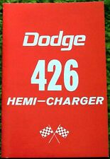 1964 1965 Dodge 426 Hemi-Charger owners Manual 64 65